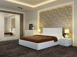 """Интерьерная кровать Адель, основание """"решетка"""""""